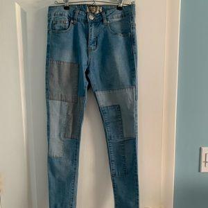 Boohoo color block jeans